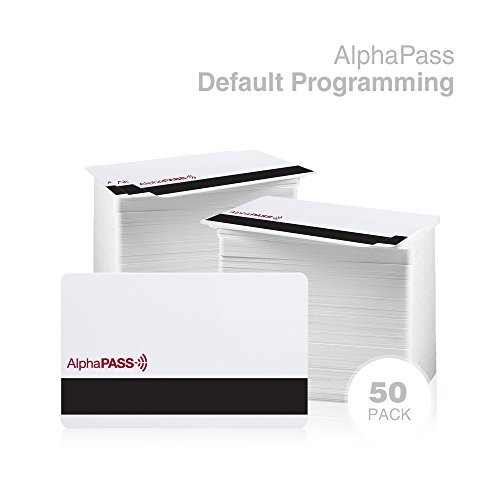 AlphaPass PVC Proximity Card with HiCo Mag Stripe for Access Control. Replaces HID 1336 DuoProx II Card w/ Magnetic Stripe. Standard 26 bit H10301 Format. (50 Pack, Default Programming) by AlphaCard