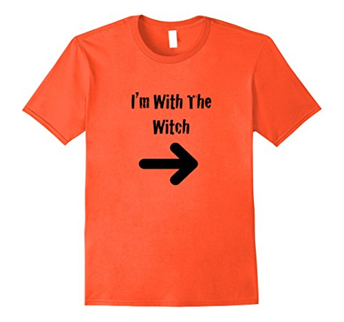 Mens Men's Halloween Couples Costume Shirt I'm With The Witch 2XL Orange