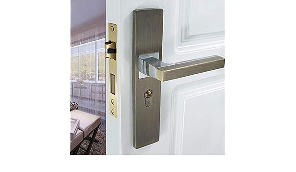 QIYINGYING Cerradura de Puerta muda con Clave Dormitorio Interior ...