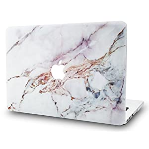 KEC MacBook Pro 13 Inch (2017 & 2016 Touch Bar) Case Cover Marble Plastic Hard Shell A1706 / A1708 (White Marble 4)