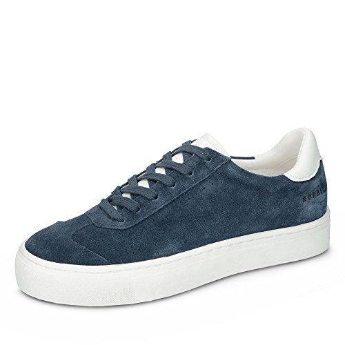 027EK1W037-420 Crosty LU Damen Sneaker Aus Veloursleder mit Textilfutter Blau