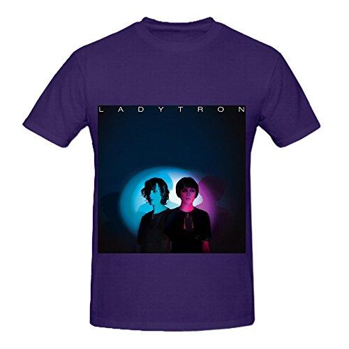 Ladytron Best Of 00 10 Tour Hits Men O Neck Art T Shirt Purple