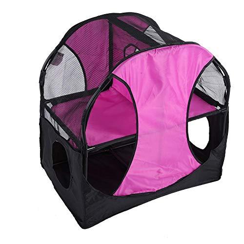 TOPINCN Cat Jumping Platform Doble Capa de PVC Tela Oxford Mascota Gatos Tienda de campaña Túnel Escalada Rascarse...