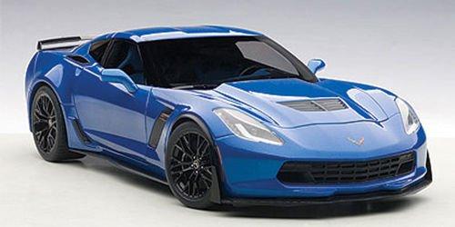 Chevrolet Corvette C7 Z06 Laguna Blue Tintcoat 1/18 by Autoart 71265