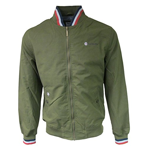 Lambretta Mens Moss Green Classic Triple Tipped Monkey Jacket XL
