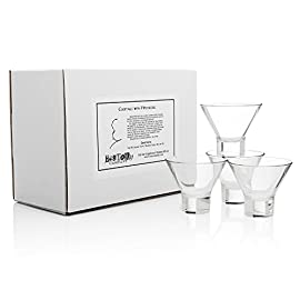 "The Hitchcock""Tippi"" Martini Glass (Gift Box Set of 4) 18 Set of 4 Ritz Bar Martini glasses, selected for Tippi Hedren by Alfred Hitchcock Finnish neo-modernist design brings film culture elegance to your tabletop Practical rounded shape with sturdy, stable base provides lasting strength"