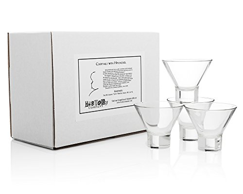 "The Hitchcock""Tippi"" Martini Glass (Gift Box Set of 4) 1 Set of 4 Ritz Bar Martini glasses, selected for Tippi Hedren by Alfred Hitchcock Finnish neo-modernist design brings film culture elegance to your tabletop Practical rounded shape with sturdy, stable base provides lasting strength"