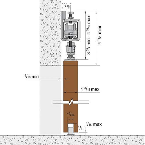 Schiebetorbeschlag SLIDUP 1700-80 mit Stahl-Laufschiene 400 cm und Stahlrollen 2x 200 cm mit Wandwinkel f/ür 1 Tor bis 80