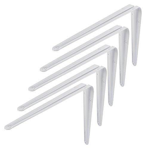 Uxcell a15112400ux0028 Shelf Bracket 12 inch Long L Shape Baked Enamel Wall Shelf Support Bracket 5 (Baked Enamel Wall)