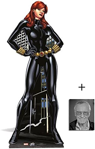 B00M4QADAA Fan Pack - Black Widow Lifesize Cardboard Cutout / Standee / Standup - Marvel The Avengers Super Hero - Includes 8x10 Star Photo 41XZhh3Yw7L