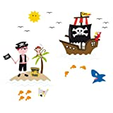 Platin Art Window Sticker, Pirates of The Window', 10 by 28-Inch