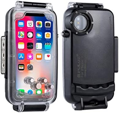 DishyKooker PU-LUZ for i-Phone XS//X//XSMAX//XR Underwater Housing 40m//130ft Diving Photo Video Phone Protective Case for Swimming Surfing Snorkeling i-PhoneXR White Electronic Products