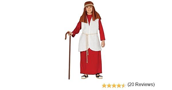 Guirca- Disfraz infantil de Hebreo pastor, Color rojo, 5-6 años ...