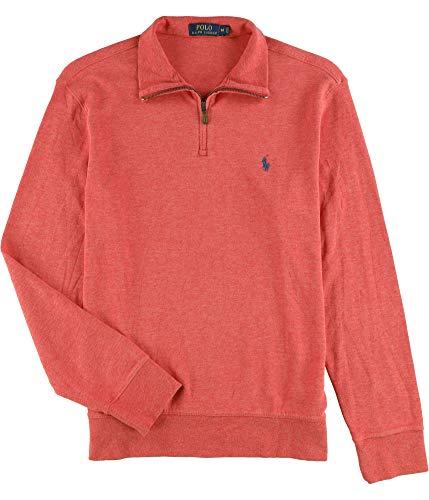 Polo Ralph Lauren Solid Mens Medium 1/2 Zip Sweater Red M