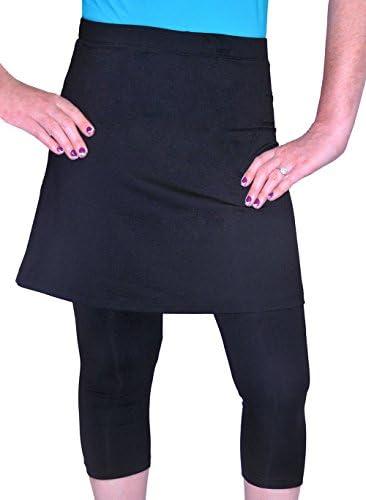 b4ef88185d1cf Kosher Casual Women's Modest Mid Thigh Length Exercise & Swim Skirt With  Leggings