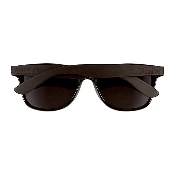 Woodies Ebony Wood Sunglasses with Black Polarized Lenses for Men or Women 3 COMFORTABLE: Wood is 50% Lighter than Ray-Bans Includes FREE Carrying Case, Lens Cloth, and Wood Guitar Pick Polarized Lenses Provide 100% UVA/UVB Protection