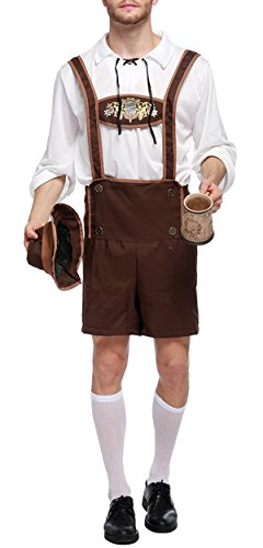 Bslingerie Mens Halloween Costume Beer Bavarian Guy Set (M, Beer Bavarian -