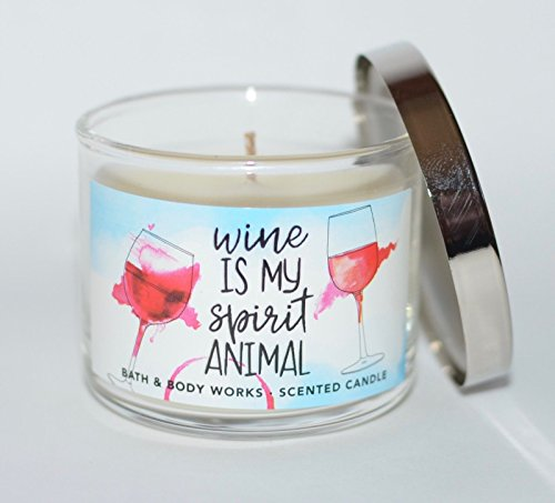 Bath & Body Works Mini Candle Wine is My Spirit Animal Black Cherry Merlot