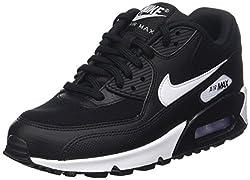 Nike Women's Wmns Air Max 90, Blackwhite, 7.5 Us