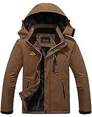 MAGCOMSEN Men's Waterproof Fleece Lined Winter Coats Parka Mountain Windproof Warm Snow Ski Jacket With Multi-Pockets