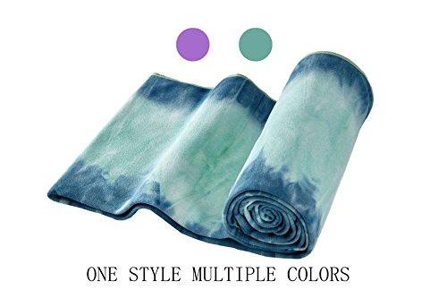 Yoga Towel - 100% Sweat Activated Gripping Microfiber, Non Slip, Skidless, Super Absorbent and Soft, Ideal for Hot Yoga Towel, Pilates, Bikram, Ashtanga Meditation, Fitness, Sports, Beach