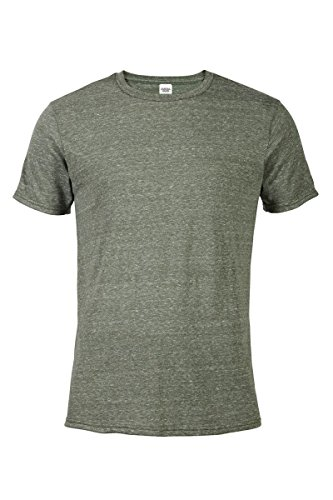 Casual Garb Men's Snow Heather Fitted T Shirt Short Sleeve Crew Neck T-Shirts for Men Moss X-Large (Crewneck Knit T-shirt)