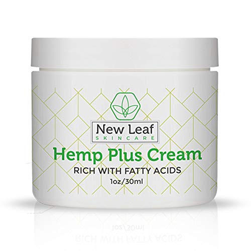 New Leaf Skincare Hemp Cream for Pain Relief - All Natural, Sans CBD - Hydrates and Relieves Inflammation - Muscle and Joint Pain - Arthritis Pain - Hemp Oil Infused