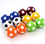 BQSPT Foosball Table Replacement Foosballs,Mini Colorful 36mm Official Tabletop Game Ball - Set of 12 Soccer B