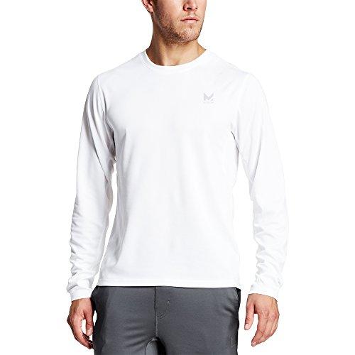 Mission Mens VaporActive Alpha Long Sleeve Athletic Shirt, Bright White, Large
