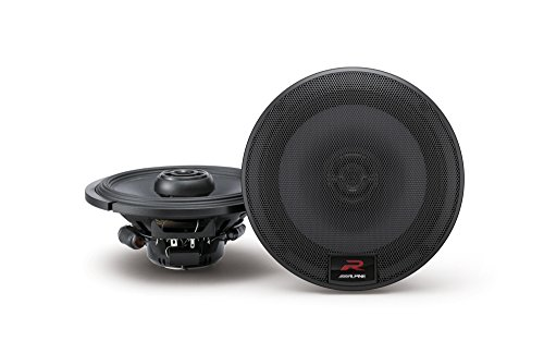 Alpine R-Series 6.5 Inch 300 Watt Coaxial 2-Way Car Audio Speakers, Pair | R-S65 by Alpine
