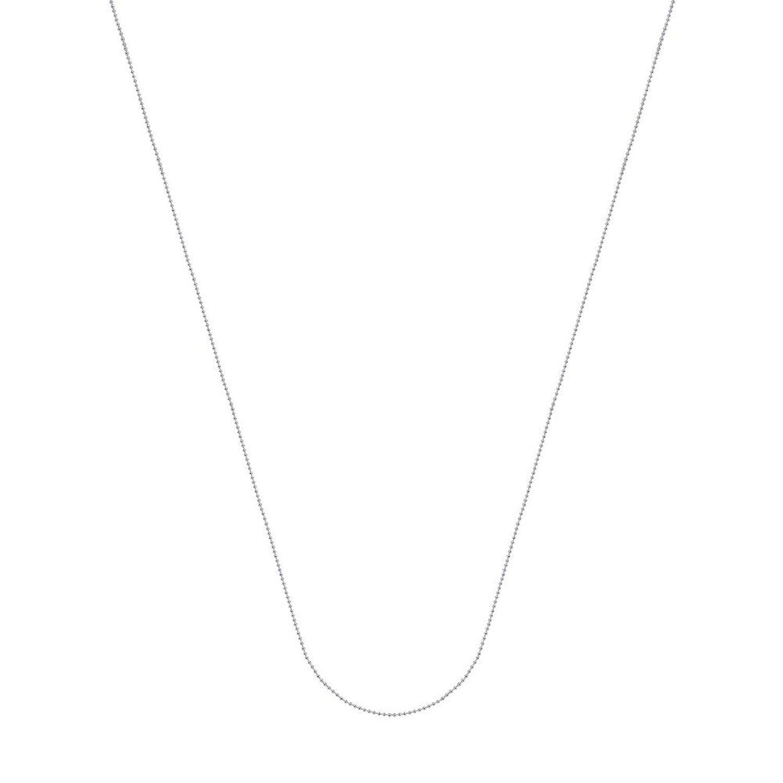 14 Kホワイトゴールド0.78 MMダイヤモンドカットビーズチェーンネックレススプリングリングClosure – 長オプション: 16 18 20 B076XZNK9W