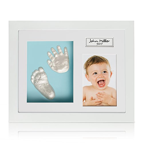 Baby Feet And Hands 3D Model Kit By Ola Boutique: DIY Casting Set With Wooden Photo Frame, 3 Background Options, Unique Keepsake For Your Newborn, 100% Safe to Use Materials, Very Detailed Impressions