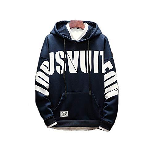 Sciolti In Con Stampa Shopping Go E Inverno Inglese Selvaggio Blue Autunno Cappuccio Pullover Easy UnHgT4wqU