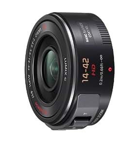 Panasonic H-PS14042E-K - Objetivo para micro cuatro tercios (distancia focal 14-42mm, apertura f/3.5-22, estabilizador, diámetro: 37 mm) negro