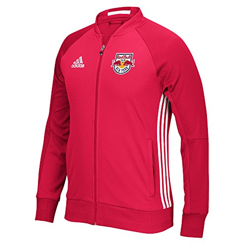 MLS New York Red Bulls Adult Men Anthem Sideline Full Zip Jacket,Small,Red