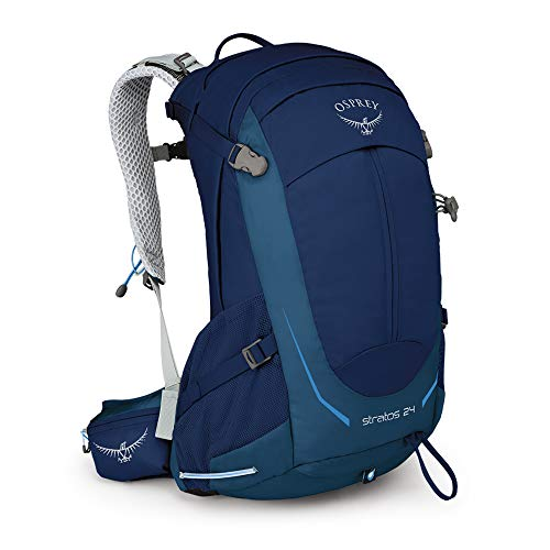 (Osprey Packs Stratos 24 Hiking Backpack, Eclipse Blue, o/s, One Size )