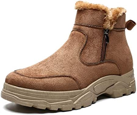 マーティンブーツ ハイカット もこもこ ムートンブーツ メンズ 黒 滑り止め 厚底 通勤 メンズ ブーツ 男性用 防水 メンズ シューズ フラット 雪用ブーツ スノーブーツ 裏ボア おしゃれ 登山靴 ワークブーツ