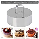 Set of 4 - Round Stainless Steel Small Cake