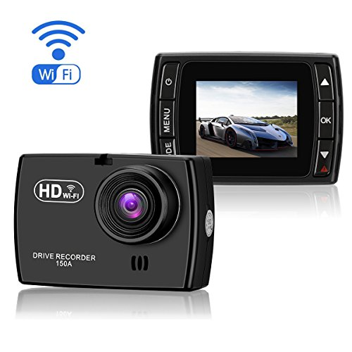 "UPC 663585952708, ULU SD150 Dash Cam with WiFi 1080P Mini Dashboard Camera Recorder, 1.5"" Screen Car Driving Recorder DVR Vehicle Dash Cam, G-Sensor, WDR, Loop Recording"