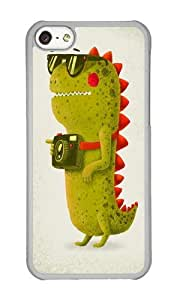 Apple Iphone 5C Case,WENJORS Adorable Dino touristo olive Hard Case Protective Shell Cell Phone Cover For Apple Iphone 5C - PC Transparent