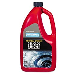 Boardwalk Gel Clog Remover/Drain Opener, 80oz Bottle - six bottles of drain opener.