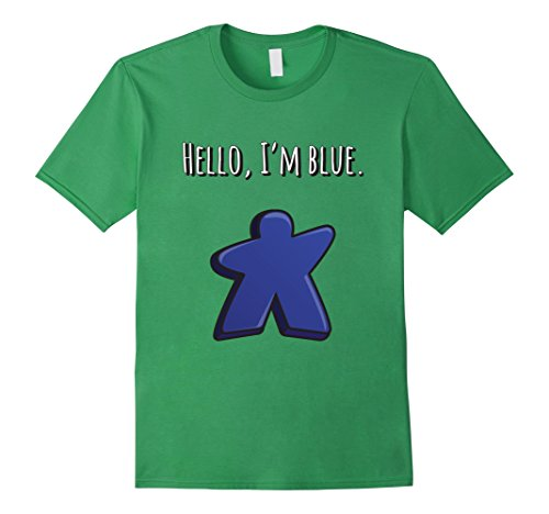 Men's Hello, I'm Blue Meeple t-shirt Tabletop Day 2017 XL Grass