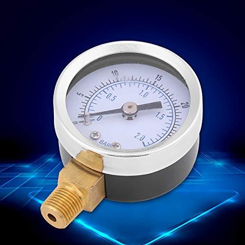 Delaman Hydraulik Manometer 0-30psi 0-2bar Mini Dial Wasser /Ölkompressor Meter Hydraulik Manometer