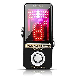 ammoon Gitarre Pedal Tuner, Pedal Stimmgerät Gitarre Tuner Chromatic mit LCD-Display Precision Vollmetallgehäuse für…