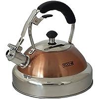 Voche® bouilloire sifflante en cuivre et acier inoxydable, contenance 3,5 litres