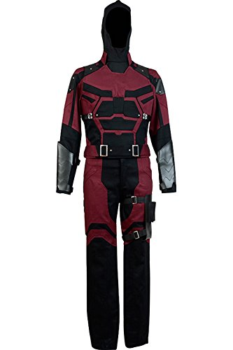 Mens Hallween Cosplay Costume Daredevil Costume Matt Murdock Outfit,Large