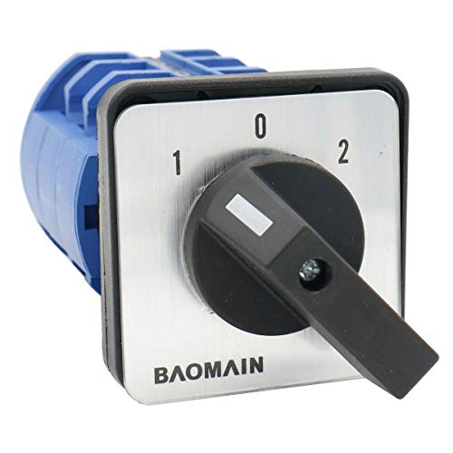 - Baomain Universal Rotary Changeover Switch SZW26-63 660V 63A 3 Position 3 Phase