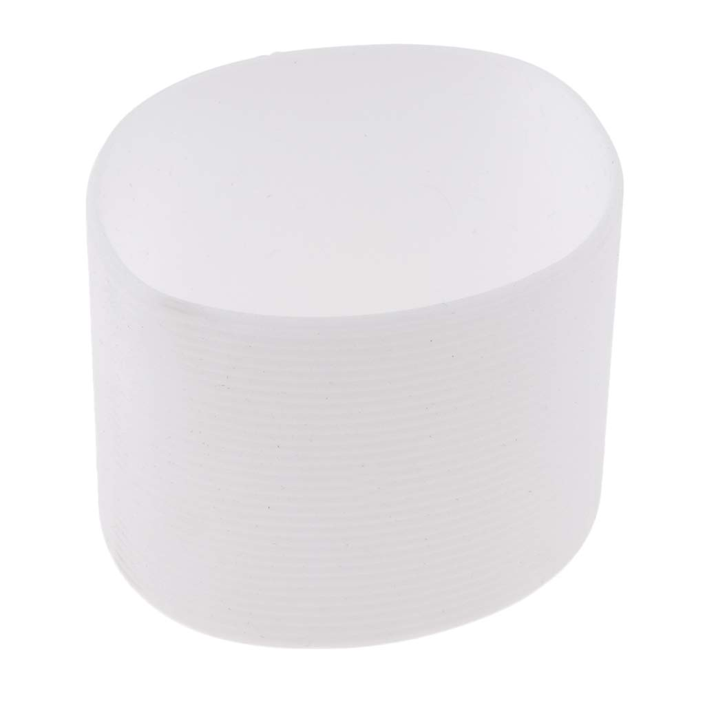 Baosity Outdoor Silicone Round Non-Slip Water Bottle Mug Cup Sleeve Cover, Lightweight Durable - White