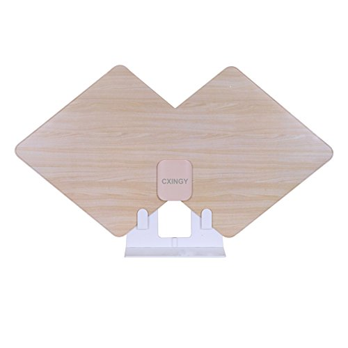 HDTV Antenna, CXINGY Digital Antennas Indoor 75 Mile Long Range Signal Amplified Booster and 10 Feet High Performance Coaxial Cable. ( Spray paint Wood grain Antenna - Updated version Better Receive)