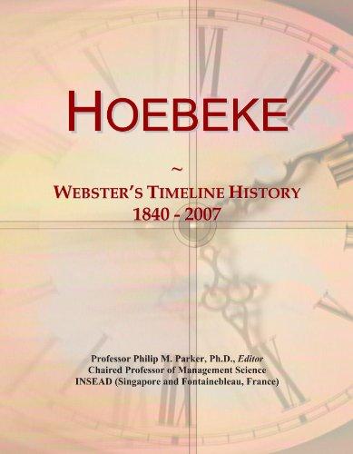 Hoebeke: Webster's Timeline History, 1840 - 2007